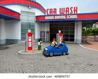JOHOR MALAYSIA  - NOVEMBER 11:  Junior Driving School and Car Wash LEGOLAND Malaysia Theme Park November 11, 2014  in Johor, Malaysia