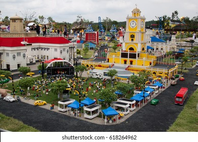 Johor, Malaysia - October 13, 2012; Legoland Malaysia is Malaysia's first international theme park that has opened on 15 Sept 2012 with over 40 interactive rides, shows and attractions.