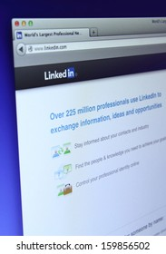 Johor, Malaysia - Sep 13, 2013: Photo of Linkedin website on a monitor screen. Linkedin is a famous online social networking service website, Sep 13, 2013 in Johor, Malaysia.