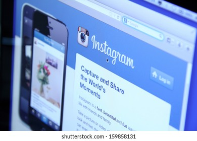 Johor, Malaysia - Sep 6, 2013: Instagram is a free photo sharing application that allows users to take photos and share it to other social networking services, Sep 6, 2013 in Johor, Malaysia.