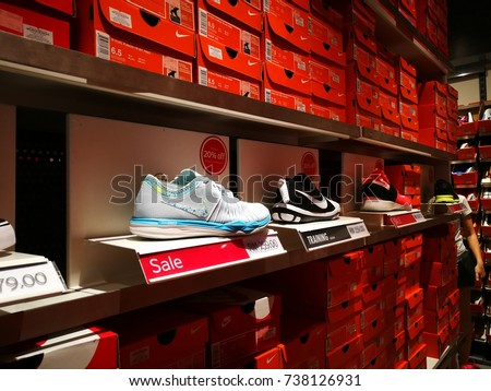 pretty nice 0afc9 114ad Johor, Malaysia-15 October 2017  Stacked Nike shoes and boxes at Johor  Premium