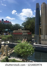 Johor/Malaysia - August 23 2018: Lego miniature at Legoland Malaysia. Legoland Malaysia is Malaysia's first international theme park. It was opened in Johor on 15 September 2012.