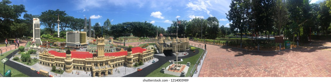 Johor/Malaysia - August 23 2018: Legoland miniature panorama at Legoland Malaysia. Legoland Malaysia is Malaysia's first international theme park. It was opened in Johor on 15 September 2012.
