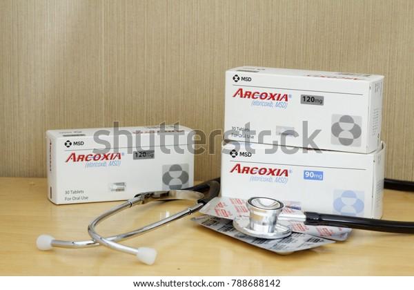 Johormalaysia Jan 082018 Arcoxia Pain Reliever Stock Photo