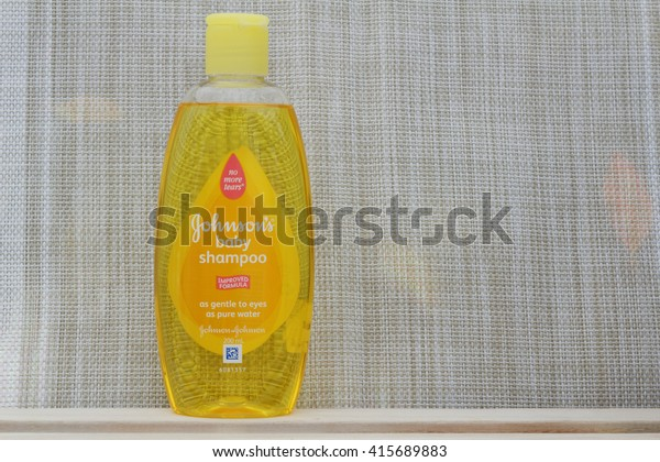 JOHOR,MALAYSIA- MARCH 15th, 2016 : Bottle of Johnson & Johnson Baby Shampoo. Johnson & Johnson is an American company founded in 1866