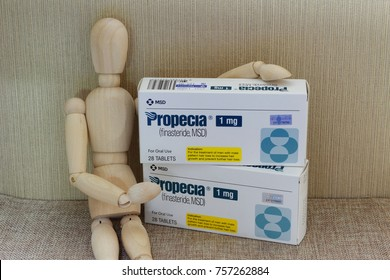 Johor,Malaysia, Nov 18 2017 -Propecia is a medicine used to treat male pattern alopecia or baldness and it is by MSD (Merck Sharp amd Dohme), a pharmaceutical company based in America.