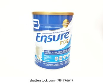Johor,Malaysia-January 01,2018. Ensure is the brand name of nutritional supplement manufactured by Abbott Laboratories.