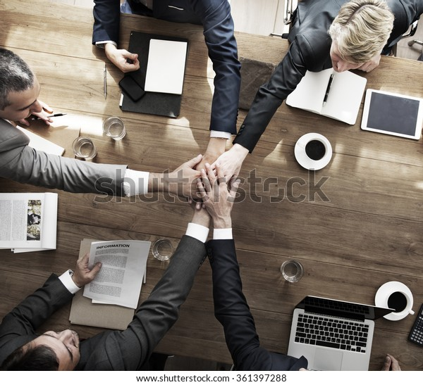 Join Hands Partnership Agreement Meeting Corporate Concept