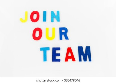 Join Our Team word on white background