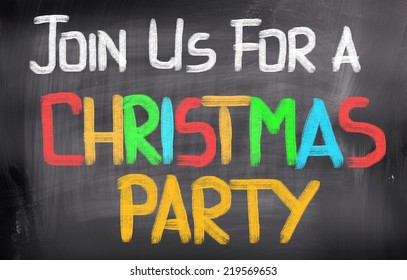 Join Us For A Christmas Party Concept