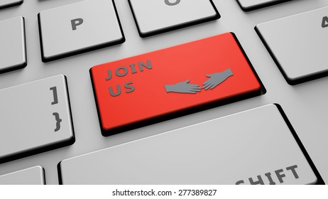 join us computer key