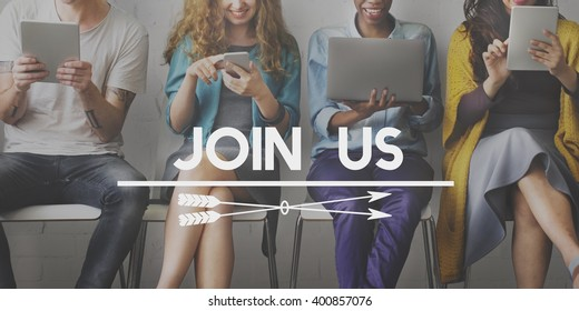 Join Us Membership Register Recruitment Headhunting Concept