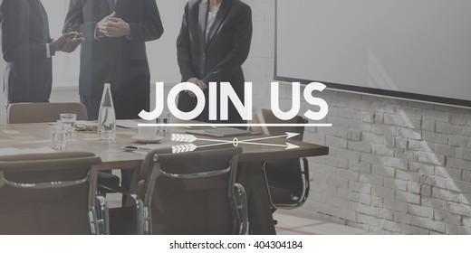 Join Us Register Sign Up Concept