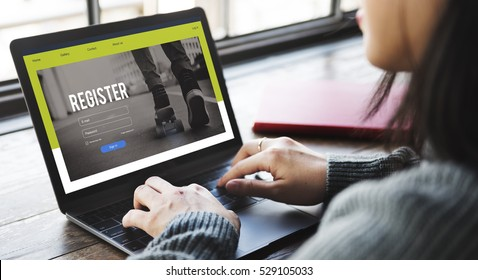 Join Us Register Subscribe Concept