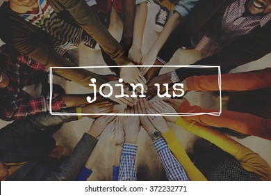 Join Us Team Recruitment Register Membership Hiring Concept