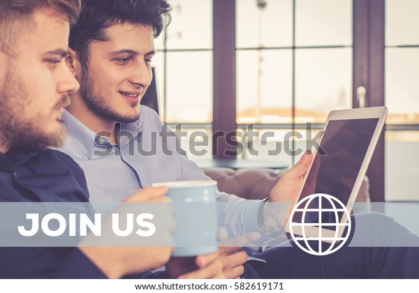 Join Us Technology Concept