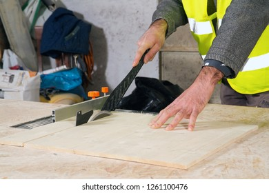 joiner at work in his workshop
