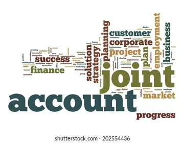 Joint account word cloud