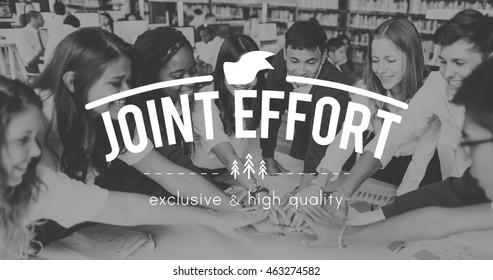 Joint Effort Corporate Collaboration Teamwork Partnership Concept