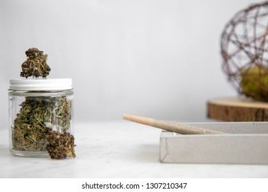 Joint, Shake, Buds, Glass Jar - Cannabis Dispensary Products