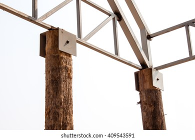 joint of square steel pipe truss for roofing structural work