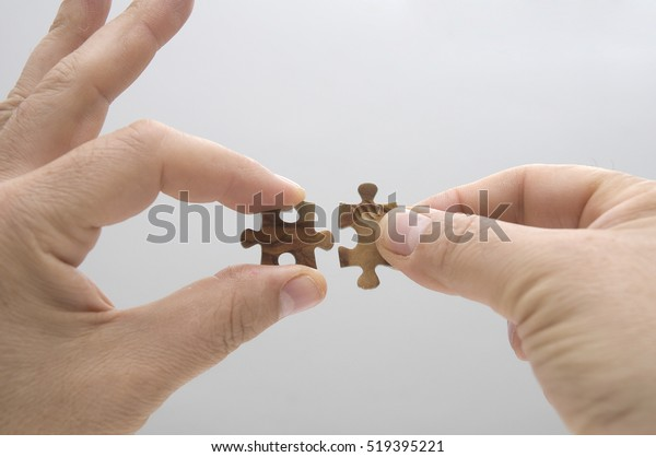joint of two pieces of a puzzle