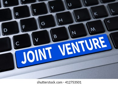 JOINT VENTURE a message on keyboard