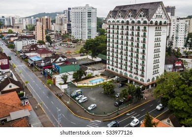 JOINVILLE, BRAZIL - DECEMBER 2016: Gastronomic route of the city of Joinville and  Tannenhof Hotel