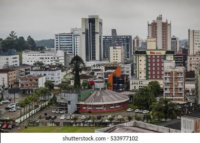 JOINVILLE, BRAZIL - DECEMBER 2016: Skyline of Joinville