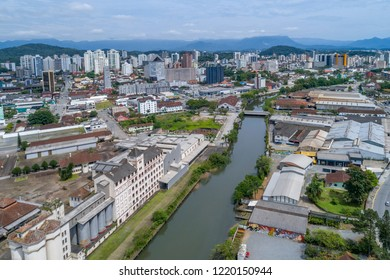 Joinville, Brazil, November 2018: Aerial View of Joinville Downtown