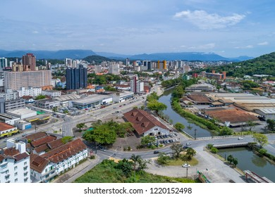 Joinville, Brazil, November 2018: Aerial View of Joinville Public Market