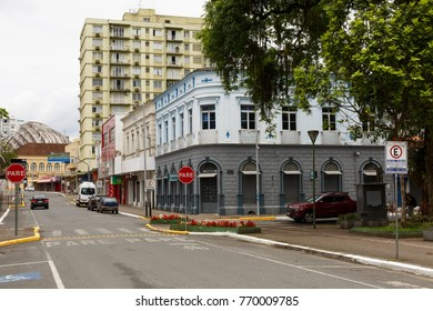 JOINVILLE, SANTA CATARINA/BRAZIL - November 5: Streets of downtown on November 5, 2017  in Joinville. It is the largest city in Santa Catarina State