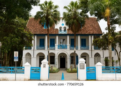 JOINVILLE, SANTA CATARINA/BRAZIL - November 5: National Museum of Immigration Settlement on November 5, 2017  in Joinville. The institution building was designed in 1870