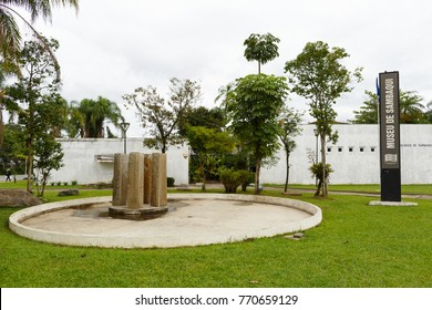 JOINVILLE, SANTA CATARINA/BRAZIL - November 5: Archaeological Museum de Sambaqui on November 5, 2017  in Joinville. The museum was inaugurated in 1972