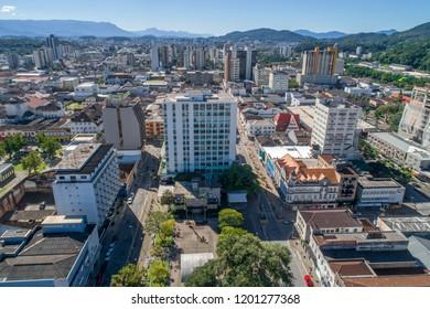 Joinville-SC, Brazil, July 2018: Plaza Nereu Ramos, Joinville Downton