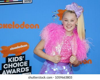 JoJo Siwa at the Nickelodeon's 2018 Kids' Choice Awards held at the Forum in Inglewood, USA on March 24, 2018.