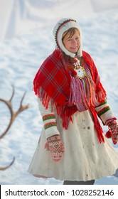 Jokkmokk Winter Market 2018, a Sami event, first weekend on February, winter in Lapland, Sweden, Norrbotten
