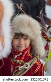 Jokkmokk Winter Market 2019, a Sami event, first weekend on February, winter in Lapland, Sweden, Norrbotten