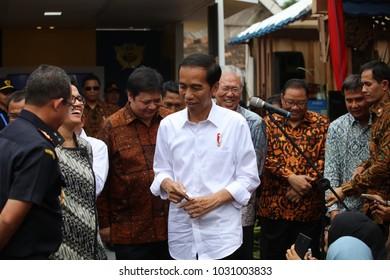Joko Widodo President of Indonesia Visiting Tumang, Boyolali Indonesia on 7th July 2017