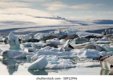 Jokulsarlon beauty lake iceberg lagoon  Southeast of Iceland
