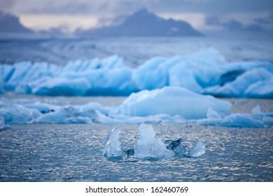 Jokulsarlon - famous glacial lagoon, South Iceland