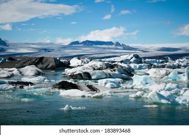 Jokulsarlon Glacial Lagoon near Vatnajokull, Iceland