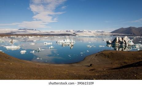 Jokulsarlon glacial lake in Iceland