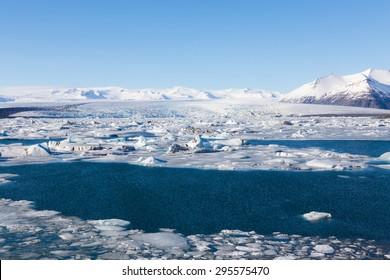 Jokulsarlon, Glacial lake, Iceland during winter