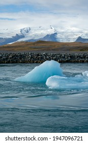 Jokulsarlon Glacier Lagoon in East Iceland. Iceberg on the water