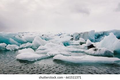 Jokulsarlon Glacier Lagoon at Iceland during spring season