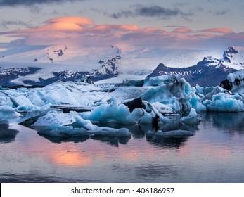 Jokulsarlon glacier lagoon, Ieceland
