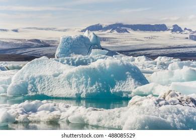 Jokulsarlon glacier lagoon in southern iceland