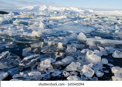 Jokulsarlon, glacier lagoon in Vatnajokull National Park, Iceland
