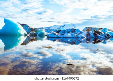 Jokulsarlon iceberg lagoon, Iceland's deepest and most spectacular glacial lake